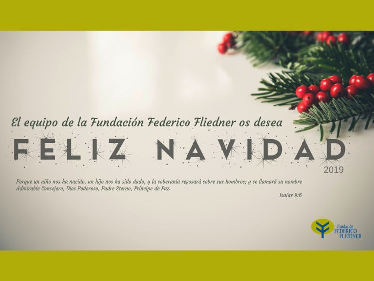 Felicitación Navideña Fundación Federico Fliedner