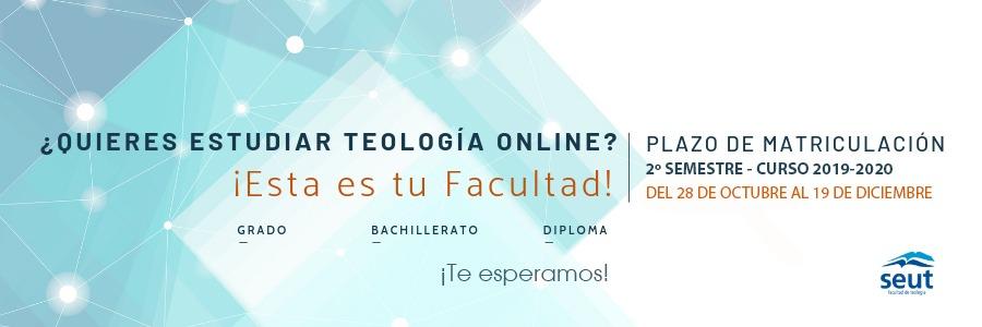 La Facultad de Teología SEUT abre el plazo de matrícula