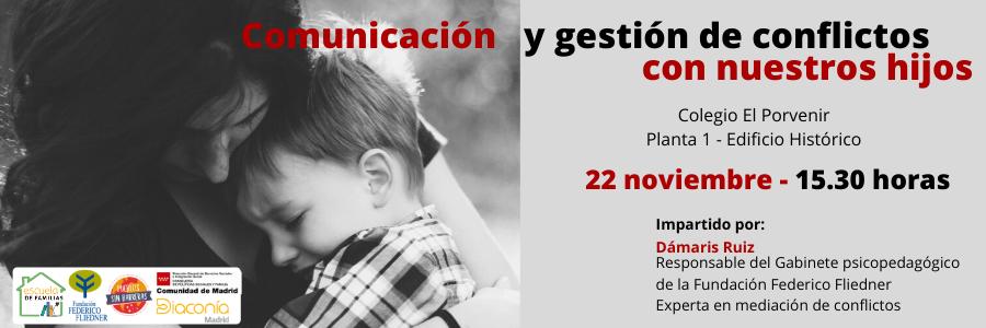"""Apúntate al taller """"Comunicación y gestión de conflictos con nuestros hijos"""""""