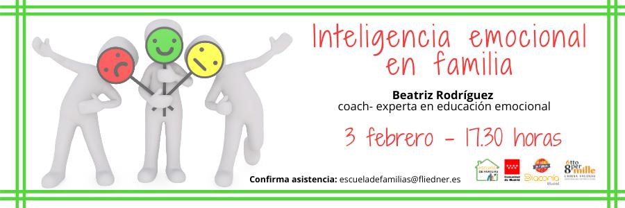 """Inteligencia emocional en familia"", próximo taller de Escuela de Familias"