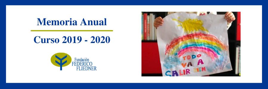 Se publica la Memoria Anual de la Fundación relativa al curso 2019-2020