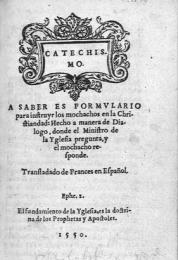 Presentación del Catecismo de Calvino
