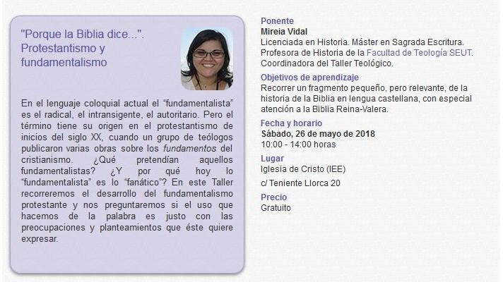 Taller Breve en Alicante - mayo 2018