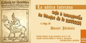 """Taller Breve en Barcelona: """"La sátira luterana. Arte e incorrección en tiempos de la Reforma"""""""