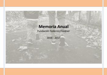 Informe 2016-2017 de la Fundación Federico Fliedner