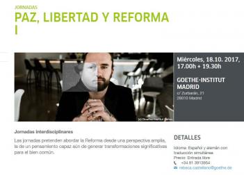 """Jornadas """"Paz, Libertad y Reforma""""  (18 de Octubre)"""