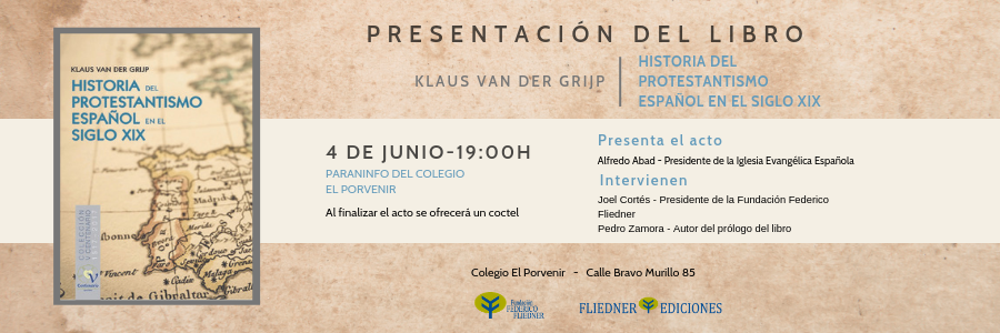 """El prof. Pedro Zamora participará en la presentación del libro: """"HISTORIA DEL PROTESTANTISMO EN EL SIGLO XIX"""" - 4 de junio"""