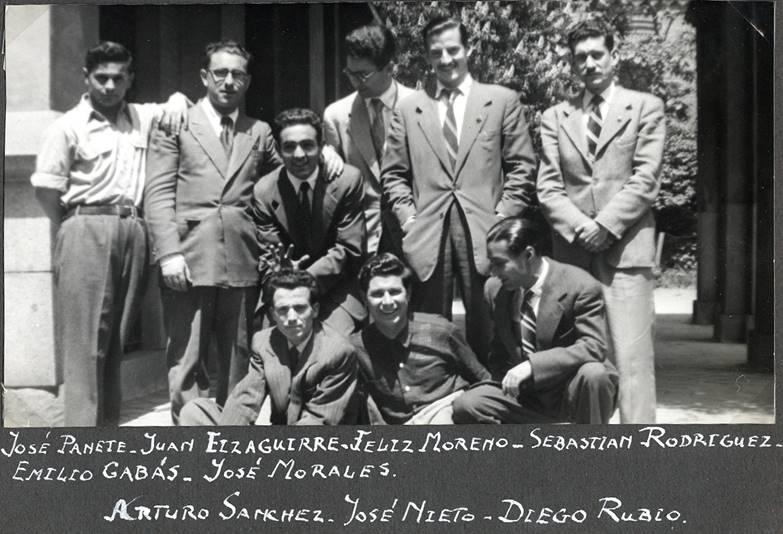 Foto de estudiantes de SEUT (1955)