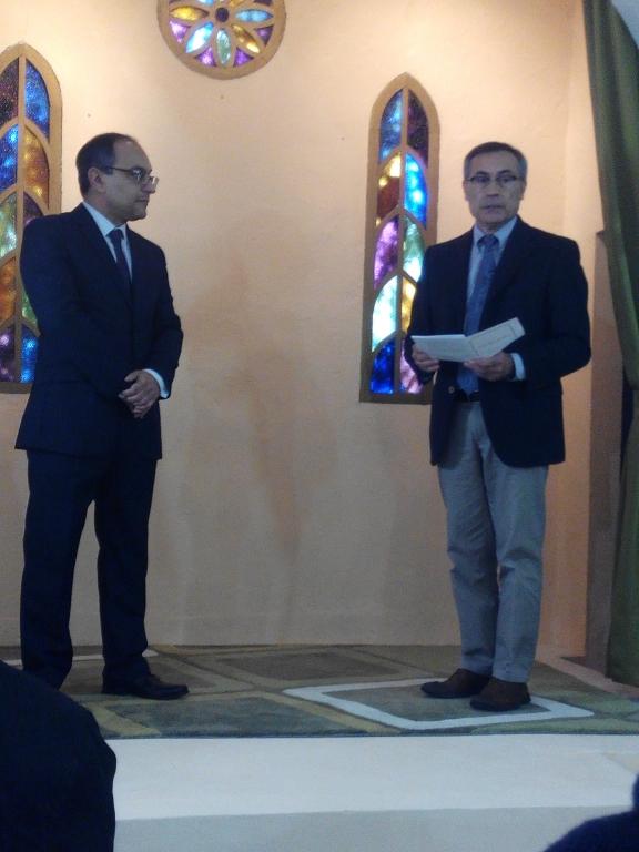 Foto del pastor Portillo y el candidato Simino