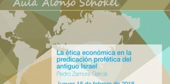 Conferencia del prof. Pedro Zamora en el marco del AULA ALONSO SCHÖKEL (Univ. Pontificia Comillas)