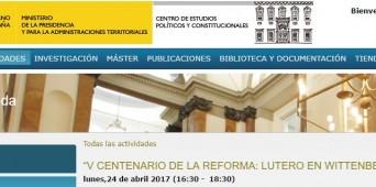 El gobierno español y el Vº Centenario de la Reforma Protestante