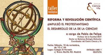 """Próximo Taller Breve: """"Reforma y Revolución Científica: ¿impulsó el Protestantismo el desarrollo de la Ciencia?"""""""